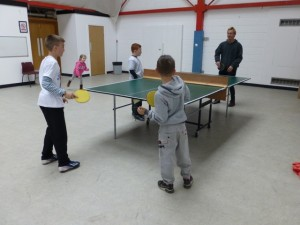 Group table tennis!